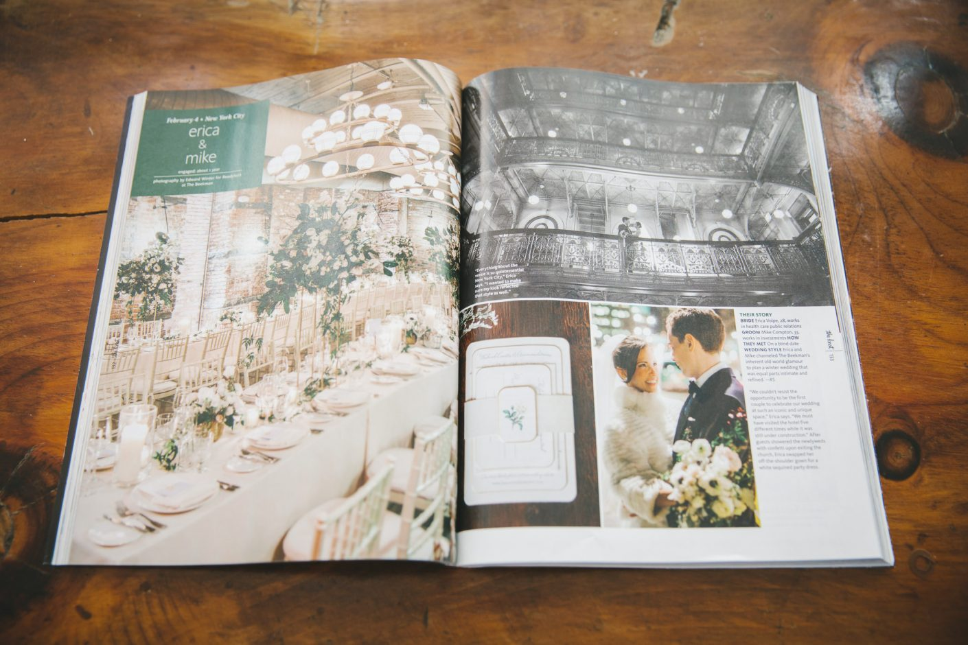 Edward Winter, The Knot Magazine Feature The Beekman Hotel