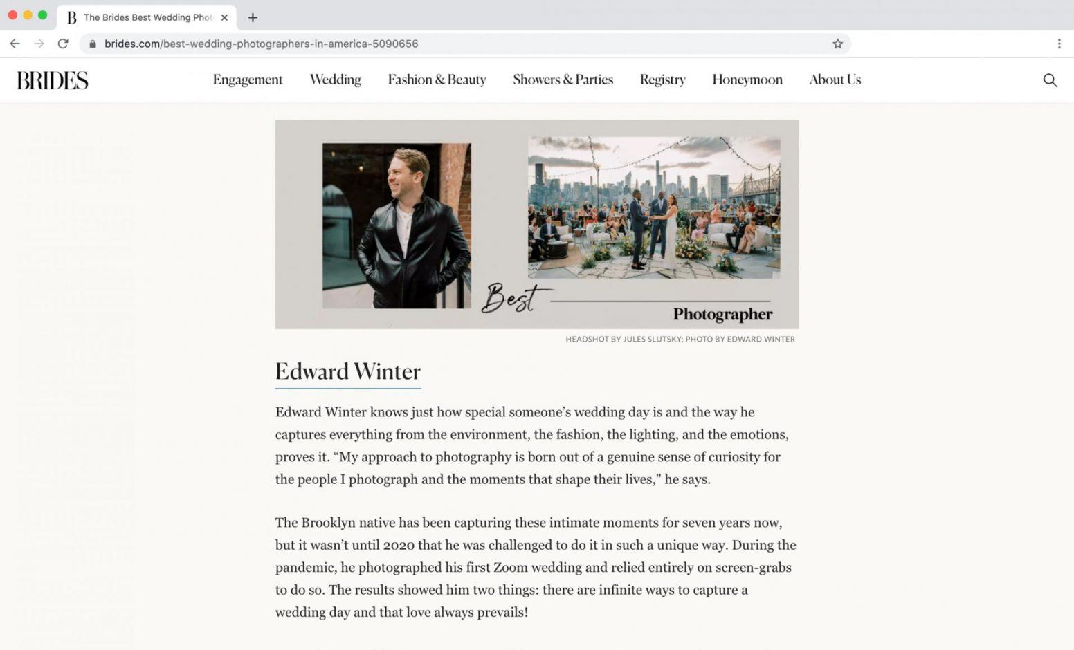 Brides Magazine Best Photographers in America Feature