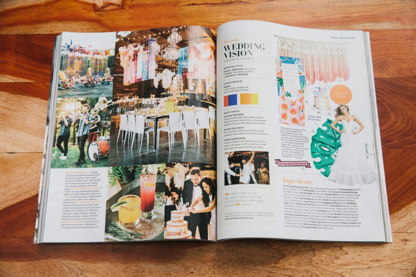 The Knot Magazine Feature Cedar Lakes Estate Jove Meyer Events