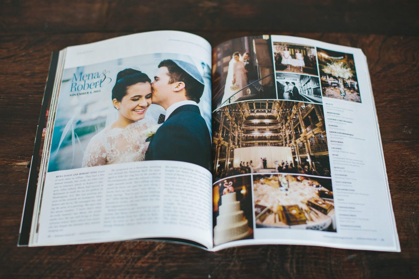 The Knot Magazine Feature The Peabody Library