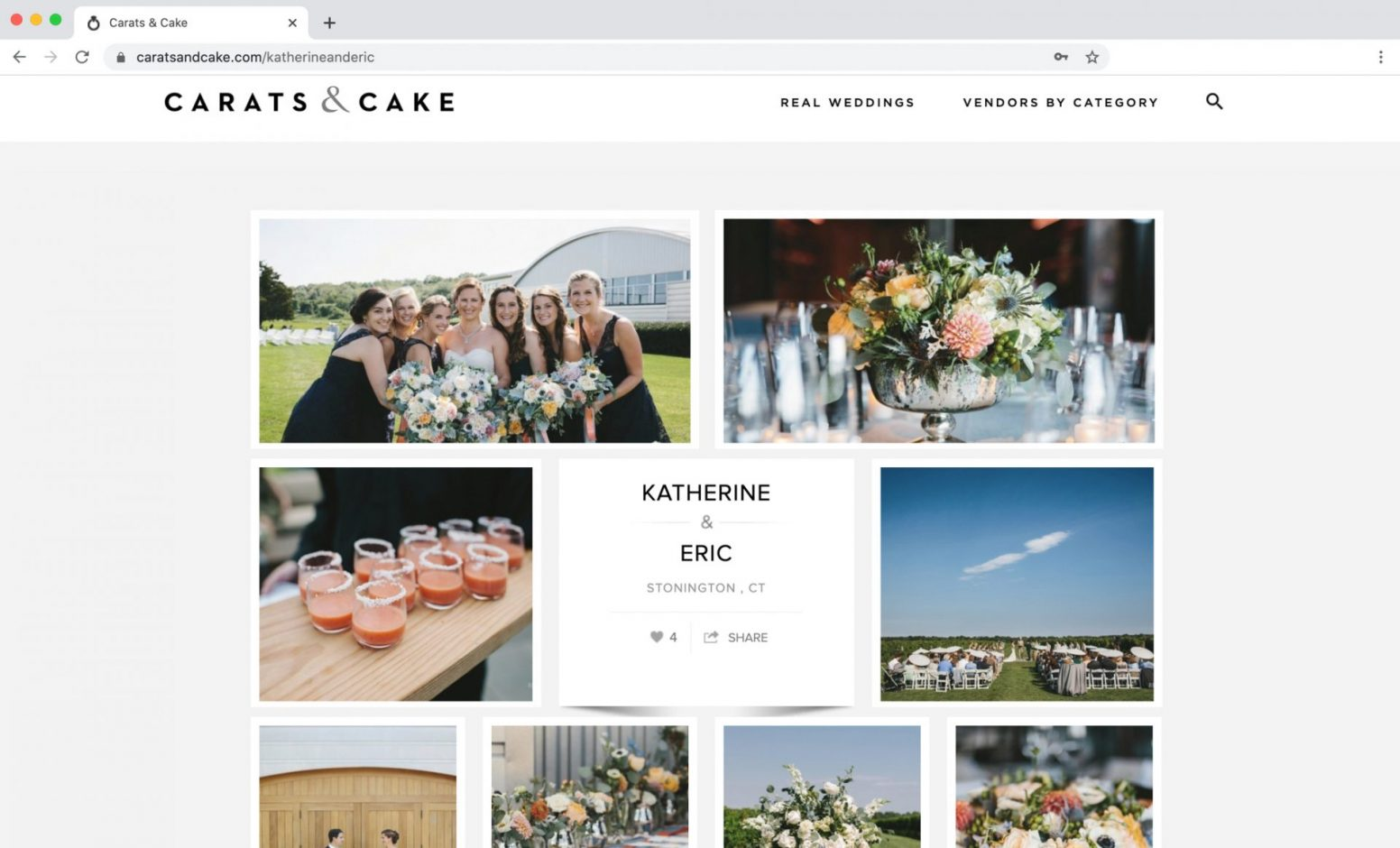 Carats & Cake Feature Vineyard Wedding