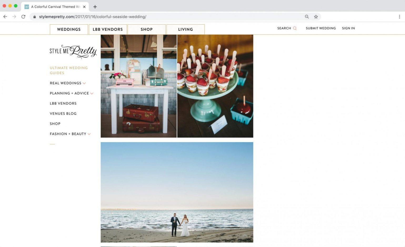 Style me Pretty Feature Cape Cod Wedding