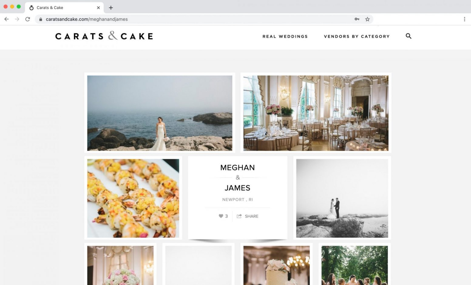 Carats & Cake Feature Rosecliff Mansion Wedding