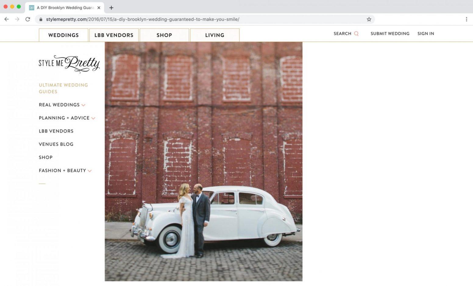 Style me Pretty Feature 501 Union Wedding Brooklyn NY