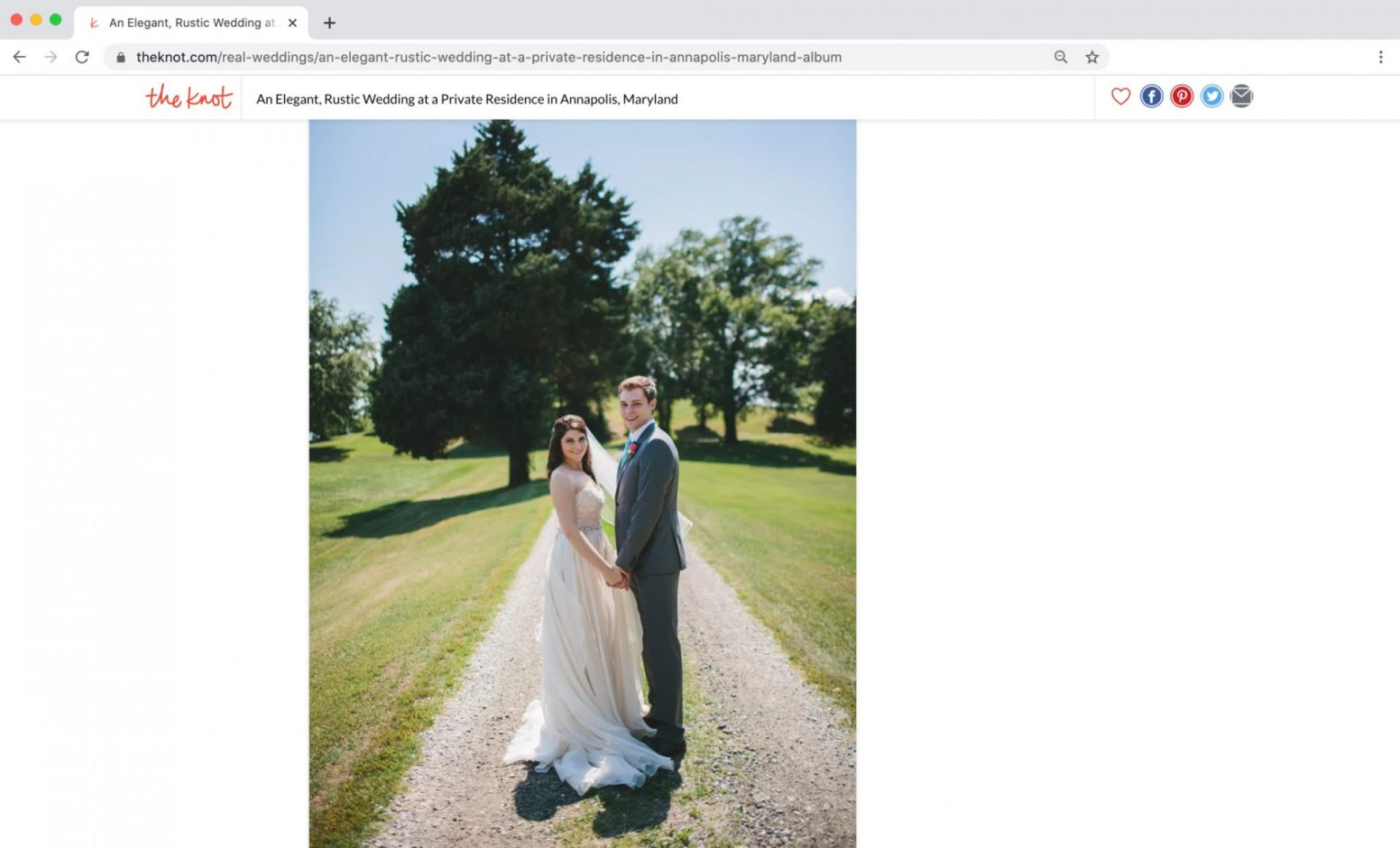The Knot Feature Annapolis Wedding