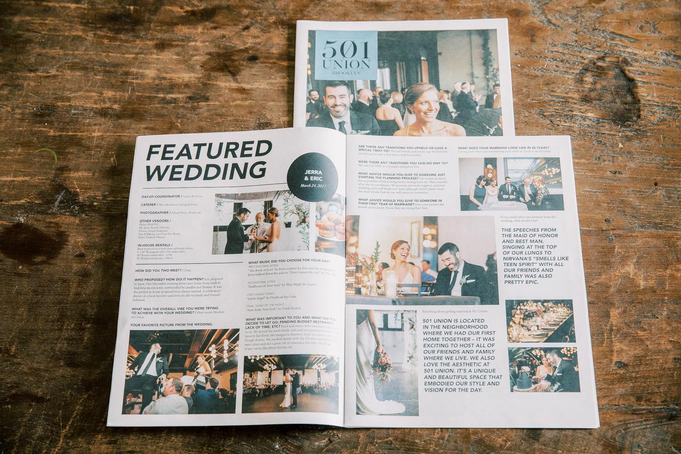 Edward Winter, 501 Union Feature Brooklyn Wedding Photographer
