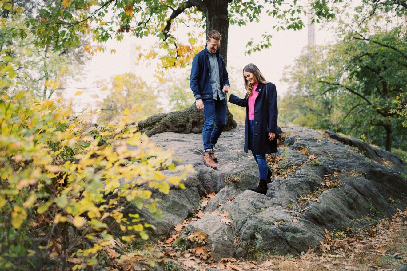 Central Park Engagement Portraits