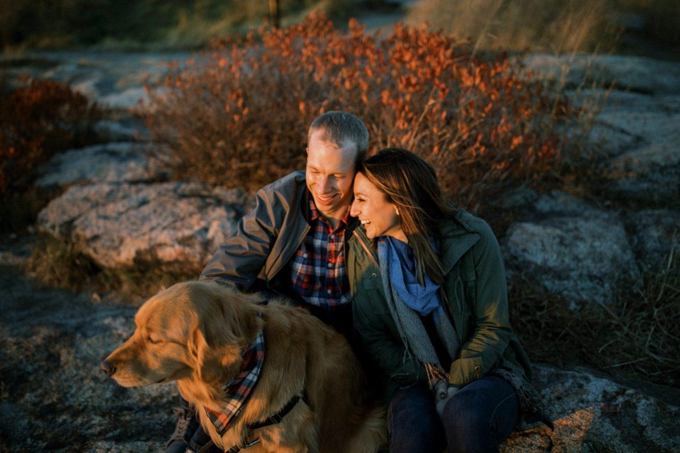 sunset engagement portraits on Bear Mountain, New York