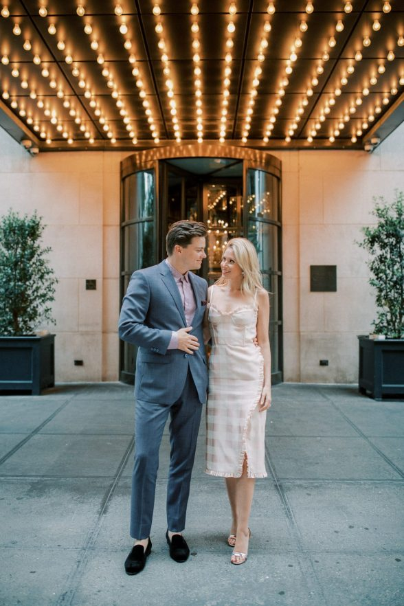 Portraits in front of Gramercy Park Hotel
